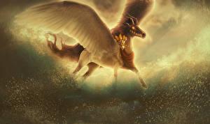 Волшебные животные Пегас Крылья Рога
