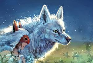 Волки Маски Рисованные  Животные