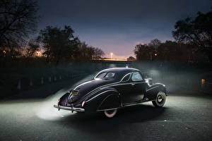 Обои Lincoln Ретро Черный Сзади 1939 Zephyr Coupe Автомобили фото