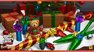 Картинки GTA 5 Плюшевый мишка Подарки Бантик Лента