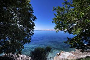 Фотографии Хорватия Озеро Побережье Природа