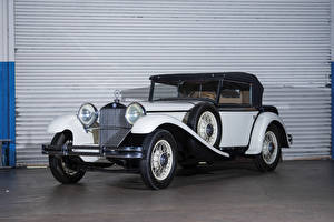 Фотографии Мерседес бенц Ретро Белый 1931-33 15-75 HP Mannheim 370 S Sport-Cabriolet Авто
