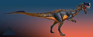 Картинки Древние животные Динозавры Dilphosaurus Животные