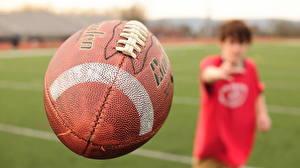Картинки Крупным планом Американский футбол Мяч Спорт