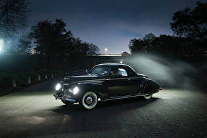 Обои Lincoln Ретро Черный 1939 Zephyr Coupe Автомобили фото