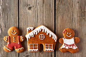 Фото Новый год Печенье Доски Дизайн Еда