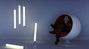 Обои DOTA 2 Juggernaut Воители Маски Кресло Style Ball Игры Фэнтези фото