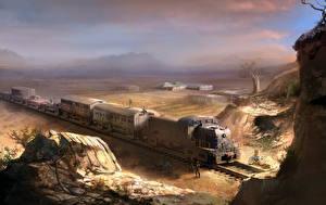 Обои Far Cry Поезда 2 Игры фото