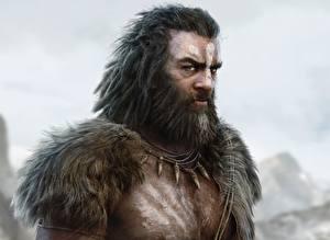 Обои Far Cry Воители Мужчины Far Cry Primal Борода Взгляд Sight Игры Фэнтези фото