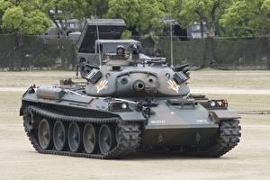 Фотографии Танки Японские Type 74, 74式戦車 Армия