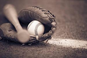 Картинки Мячик Бейсбольной битой Перчатки спортивные