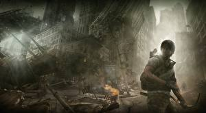 Обои Развалины Апокалипсис Мужчины Лучники I Am Alive Игры Фэнтези
