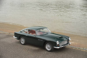Обои Aston Martin Ретро Зеленый Металлик 1960-61 DB4 Worldwide (Series II) Touring Автомобили фото