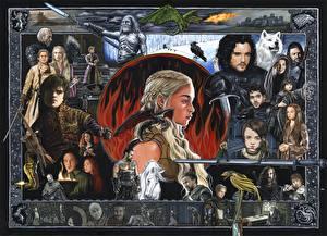 Фотографии Игра престолов (телесериал) Emilia Clarke Дейенерис Таргариен Мужчины Воины Дракон Фильмы Девушки