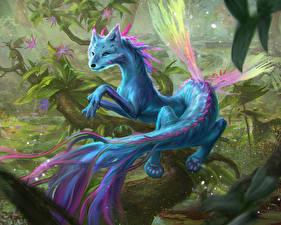 Фотография Волшебные животные Хвост Крылья Фантастика