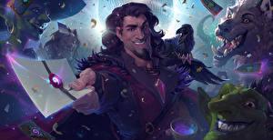 Обои Hearthstone: Heroes of Warcraft Мужчины Вороны Письмо Karazhan Игры Фэнтези фото