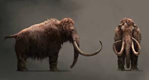 Обои Far Cry Древние животные Мамонты Far Cry Primal Игры Животные