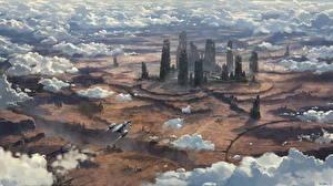 Фотография Star Citizen Фантастический мир Корабли Облако Игры Фэнтези