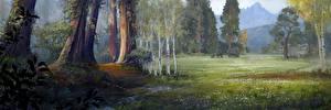 Фотография Far Cry Мамонты Луга Far Cry Primal Деревья