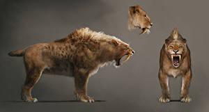 Картинка Far Cry Древние животные Клыки Far Cry Primal Sabretooth  Животные