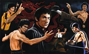 Обои Bruce Lee Рисованные Мужчины Знаменитости фото