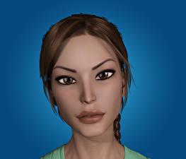 Картинки Tomb Raider Лара Крофт Лицо Взгляд  Девушки 3D_Графика