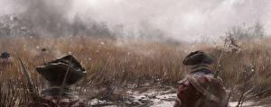 Фото Assassin's Creed 3 Солдаты Трава Двое Шапки