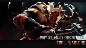 Обои DOTA 2 Troll Warlord Воители Эльфы Боевые топоры / Секиры Игры Фэнтези фото