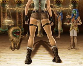 Обои Tomb Raider 2013 Египет Лара Крофт Ноги Сапоги Игры фото