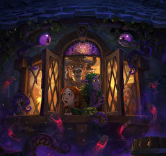 Обои Hearthstone: Heroes of Warcraft Эльфы Окно Игры Фэнтези фото