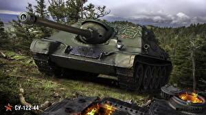 Обои World of Tanks САУ Русские SU-122-44 Игры фото
