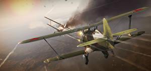 Обои War Thunder Самолеты Русские Полет Игры фото