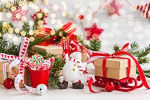 Фотография Рождество Подарки Снеговики Шар