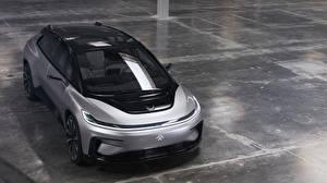 Обои Серебристый 2017 Faraday Future FF 91 Автомобили фото