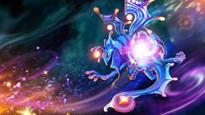 Обои DOTA 2 Puck Сверхъестественные существа Магия Игры Фэнтези