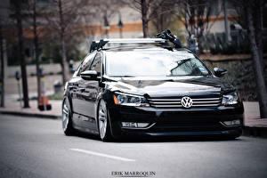 Обои Volkswagen Черный 2013 Passat Автомобили фото