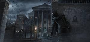 Обои Thief Маски Мужчины Дома Капюшон Ночь Garrett Игры фото