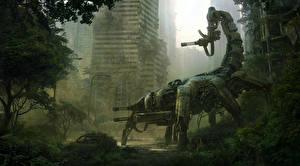 Картинки Апокалипсис Техника Фэнтези Пулеметы Робот Wasteland 2 Игры