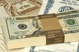 Картинка Деньги Банкноты Доллары 20