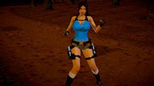 Обои Tomb Raider Tomb Raider Anniversary Лара Крофт Игры Девушки 3D_Графика