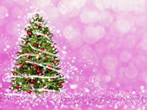Картинка Новый год Елка Шарики Гирлянда