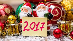 Фотография Новый год 2017 Санта-Клаус Шарики