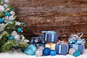 Фото Новый год Доски Елка Шарики Подарки
