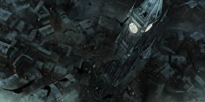 Фото Thief Дома Вороны Часы Башня Сверху Игры Города