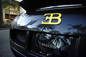 Обои Крупным планом BUGATTI Сзади Карбон veyron mansory Автомобили фото