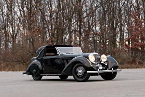 Фото Бентли Старинные Черные Металлик Седан 1936 3 ½ Litre Sedanca Coupe by Windovers машины