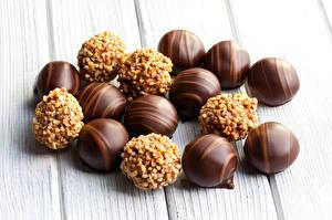 Обои Сладости Конфеты Шоколад Доски Еда фото