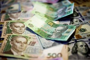 Картинки Деньги Купюры Украина Доллары hryvnia
