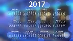 Картинки 2017 Календарь Английский