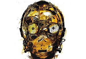 Обои Глаза Крупным планом Звездные войны Голова Робот Белый фон C-3PO Фэнтези фото